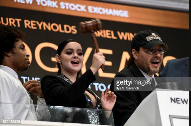 Ariel Winter Rings The New York Stock Exchange Closing Bell to Celebrate the World Premiere of 'Dog Years' at New York Stock Exchange on April 24...