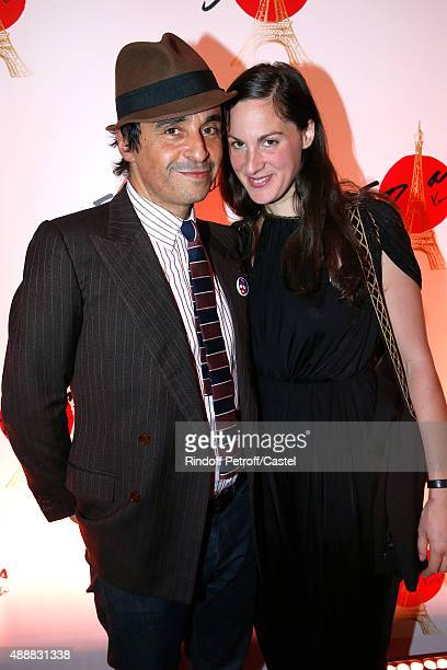 Ariel Wizman and his companion Osnath Assayag attend the Kenzo Takada's 50 Years of Life in Paris Celebration at Restaurant Le Pre Catelan on...