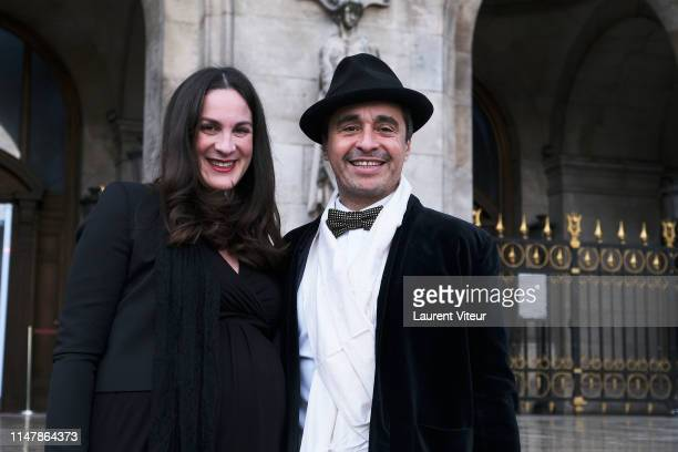 Ariel Wizman and his wife Osnath Assayag attend the 350th Anniversary Gala Outside Arrivals At Opera Garnier on May 08 2019 in Paris France