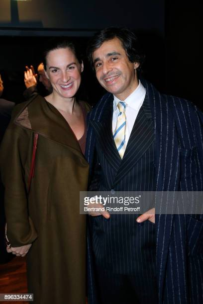 Ariel Wizman and his wife Osnath Assayag attend the Gala evening of the PasteurWeizmann Council in Tribute to Simone Veil at Salle Pleyel on December...