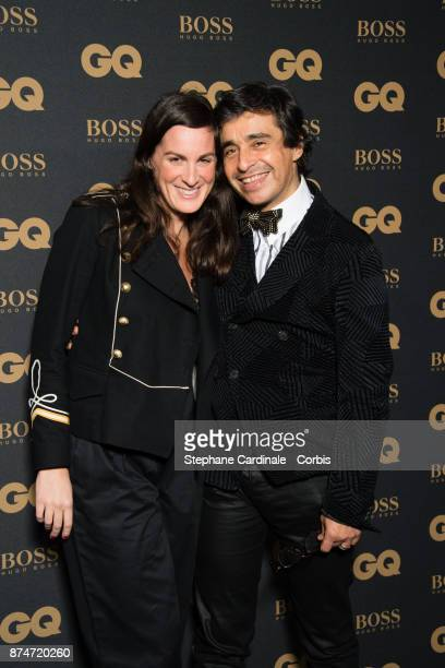 Ariel Wizman and his wife Osnath Assayag attend the GQ Men Of The Year Awards 2017 at Le Trianon on November 15 2017 in Paris France