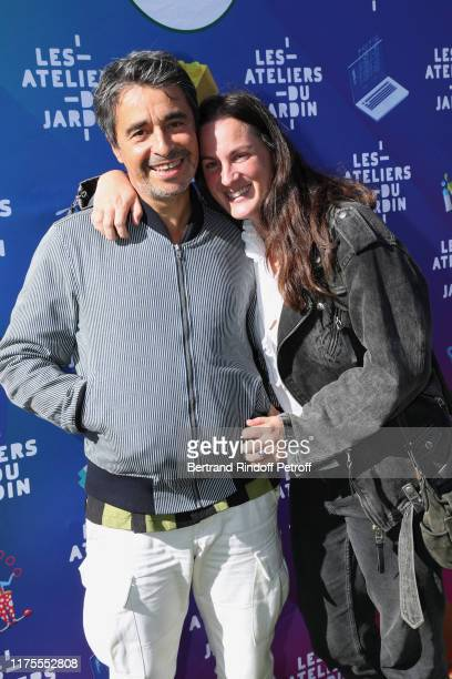 Ariel Wizman and his wife Osnath Assayag attend the Launch of the Jardin D'Acclimatation Workshops at Jardin D'Acclimatation on September 18 2019 in...