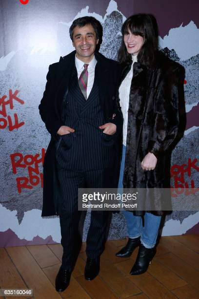Ariel Wizman and his wife Osnath Assayag attend the Rock'N Roll Premiere at Cinema Pathe Beaugrenelle on February 13 2017 in Paris France