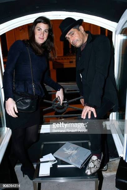 Ariel Wizman and his wife Osnath Assayag attend the YSL Beauty Hotel event during Paris Fashion Week Menswear Fall/Winter 20182019 on January 17 2018...