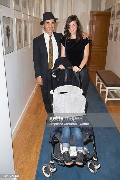 Ariel Wizman and Osnath Assayag and their child attend the Alber Elbaz Ceremony Decoration at Ministere de la culture Paris Fashion Week Womenswear...