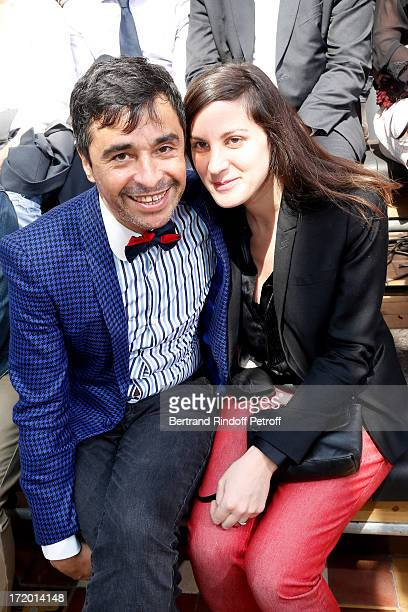 Ariel Wizman and Osnath Assayag attend Lanvin Menswear Spring/Summer 2014 Show As Part Of The Paris Fashion Week held at Ecole des beaux arts on June...