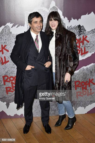 Ariel Wizman and Osnath Assayag attend the Rock'N Roll Premiere at Cinema Pathe Beaugrenelle on February 13 2017 in Paris France
