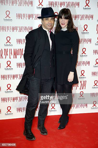 Ariel Wizman and Osnath Assayag attend the Sidaction Gala Dinner 2017 as part of Paris Fashion Week on January 26 2017 in Paris France