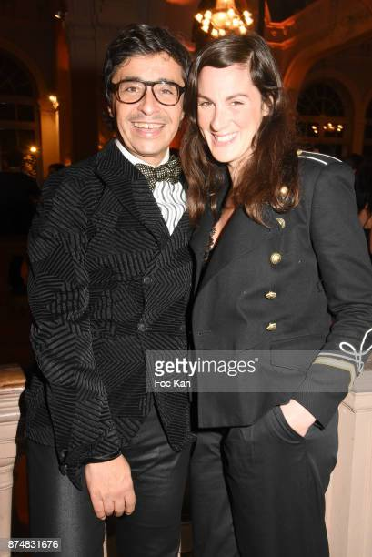 Ariel Wizman and Osnath Assayag Wizman attend the Les GQ Men Of The Year Awards 2017 Photocall at Trianon on November 15 2017 in Paris France