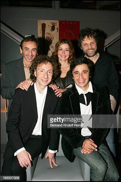 Ariel Wizman Muriel Cousin Stephane Guillon and Eric Zemmour at Stephane Bern's 42nd Birthday Celebration At Sens In Paris