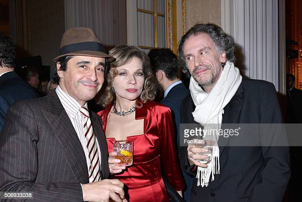 Ariel Wizman Simon Liberati and Eva Ionesco attend the 'GQ Men Of The Year Awards 2015' as part of Paris Fashion Week on January 25 2016 in Paris...