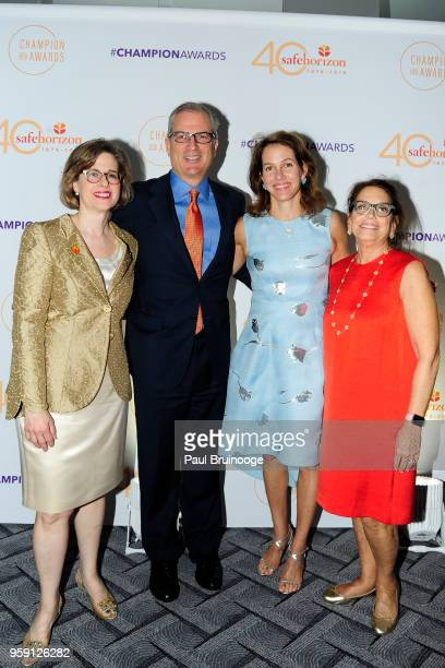 Ariel Zwang Paul Parker Andrea Hagan and Pamela Hootkin attend Safe Horizon's Champion Awards at The Ziegfeld Ballroom on May 15 2018 in New York City