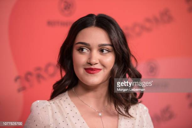 Ariela Barer arrives at Refinery29's 29Rooms at The Reef on December 4 2018 in Los Angeles California