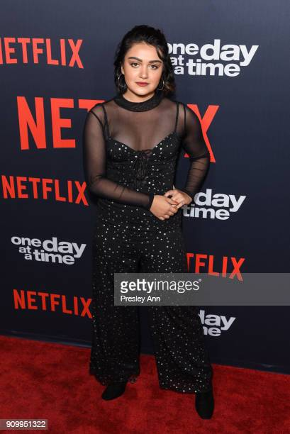 Ariela Barer attends Netflix's One Day at a Time Season 2 Event at ArcLight Hollywood on January 24 2018 in Hollywood California
