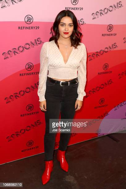 Ariela Barer attends Refinery29 Presents 29Rooms Los Angeles 2018 Expand Your Reality at The Reef on December 4 2018 in Los Angeles California
