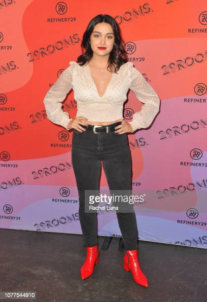 Ariela Barer attends Refinery29's 29Rooms Los Angeles 2018 Expand Your Reality at The Reef on December 04 2018 in Los Angeles California