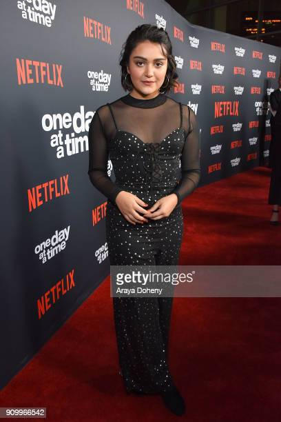 Ariela Barer attends the premiere of Netflix's 'One Day At A Time' season 2 at ArcLight Hollywood on January 24 2018 in Hollywood California