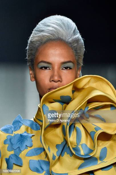 Ariela Soares walks runway at the Marc Jacobs Spring 2019 Runway during New York Fashion Week The Shows at Park Avenue Armory on September 12 2018 in...