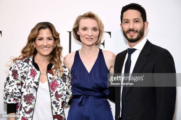 Ariela Suster Alyse Nelson and Andres Suster attend The 2018 DVF Awards at United Nations on April 13 2018 in New York City