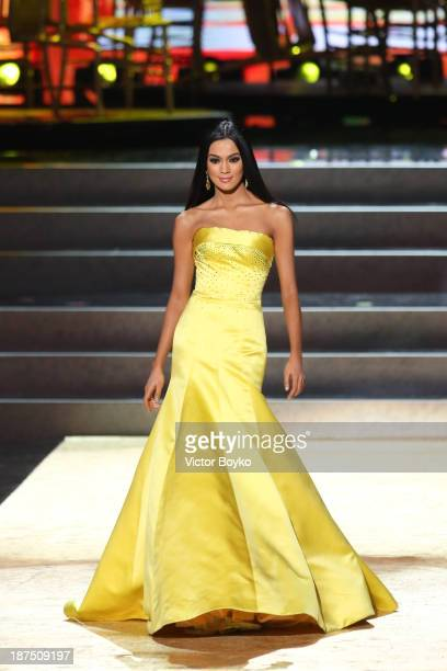 Ariella Arida of Philippines walks the stage during the Miss Universe Pageant Competition 2013 on November 9 2013 in Moscow Russia