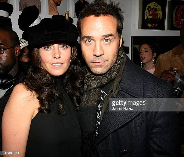 Ariella Azogui and Jeremy Piven during Jeremy Piven Hosts the Launch of Common's New Hat Line Soji at 246 Mott Street in New York City New York...