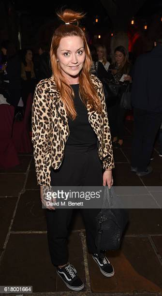 Ariella Free attends the launch of the 7th Heaven Halloween Spa at The Crypt on October 25 2016 in London England