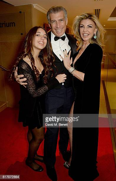 Ariella Tchenguiz Steve Varsano and Lisa Tchenguiz attend a special Charity Premiere of 'Despite The Falling Snow' in aid of the Nelson Mandela...