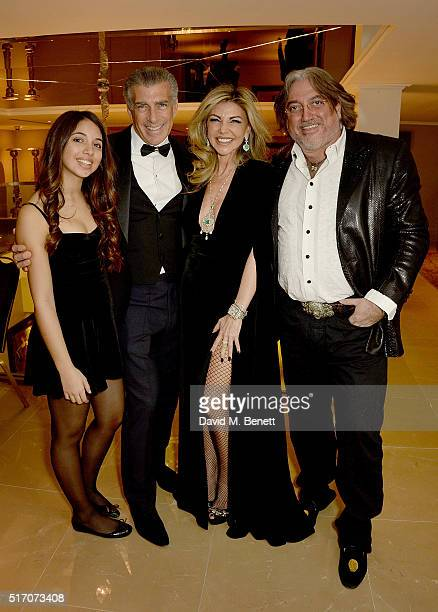 Ariella Tchenguiz Steve Varsano Lisa Tchenguiz and Robert Tchenguiz attend a special Charity Premiere of 'Despite The Falling Snow' in aid of the...