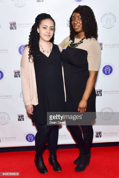 Arielle Bremby and Atina Sutton attend Appraisers Association of America Honors Hans Ulrich Obrist at 14th Annual Award Luncheon at New York Athletic...