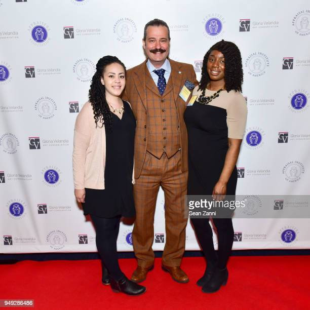 Arielle Bremby Nicholas Lowry and Atina Sutton attend Appraisers Association of America Honors Hans Ulrich Obrist at 14th Annual Award Luncheon at...