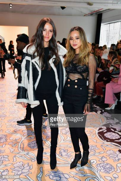 Arielle Charnas and Jamie Chung attend the alice McCALL fashion show during New York Fashion Week The Shows at Industria Studios on February 10 2018...