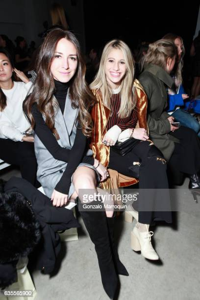 Arielle Charnas and Sophia Macks at the Marchesa Fashion show during New York Fashion Week The Shows at Skylight Clarkson Sq on February 15 2017 in...