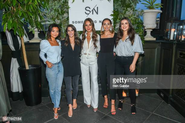 Arielle Charnas and Team attend Nordstrom's SOMETHING NAVY Brand Launch Dinner At The Gramercy Park Hotel on September 5 2018 in New York City