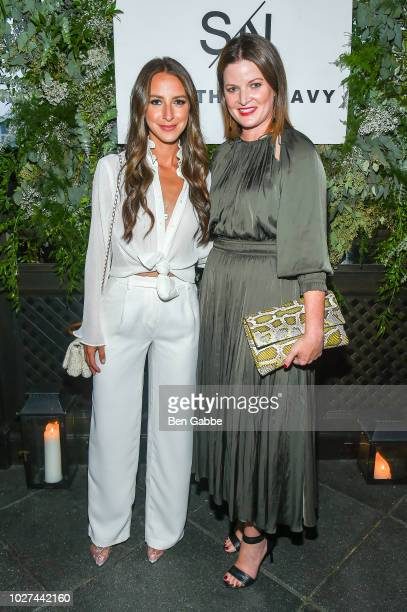 Arielle Charnas and Tricia Smith attend Nordstrom's SOMETHING NAVY Brand Launch Dinner At The Gramercy Park Hotel on September 5 2018 in New York City