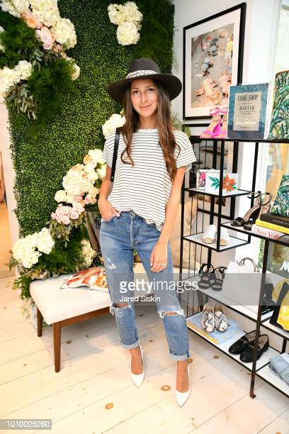 Arielle Charnas attends Harper's BAZAAR X Sam Edelman MidSummer Hamptons Event on August 2 2018 in Southampton New York
