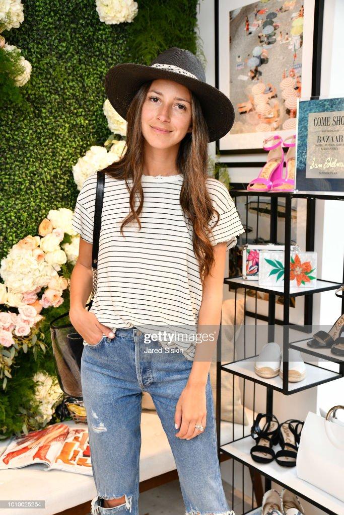 Arielle Charnas attends Harper's BAZAAR X Sam Edelman Mid-Summer Hamptons Event on August 2, 2018 in Southampton, New York.