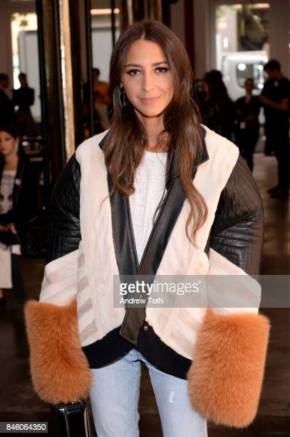 Arielle Charnas attends Sally LaPointe fashion show during New York Fashion Week on September 12 2017 in New York City