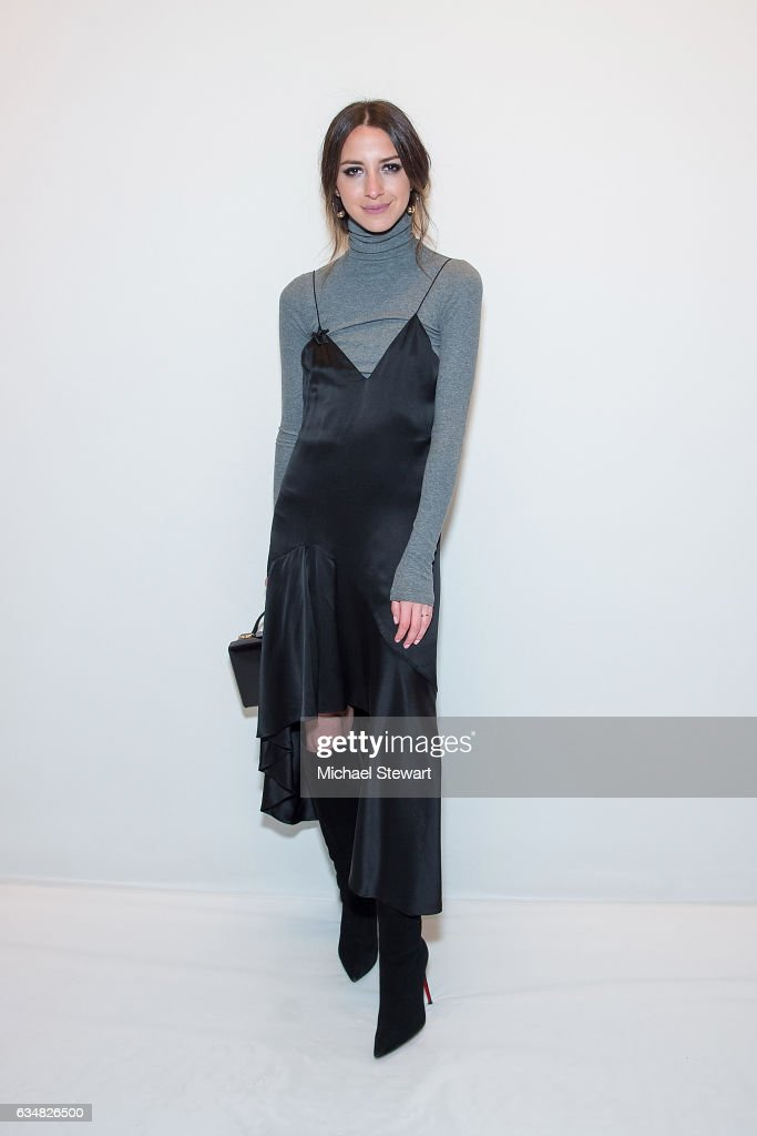 Arielle Charnas attends the Jonathan Simkhai fashion show during February 2017 New York Fashion Week: The Shows at Gallery 1, Skylight Clarkson Sq on February 11, 2017 in New York City.