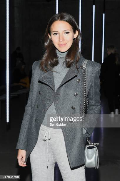 Arielle Charnas attends the Sally LaPointe fashion show during New York Fashion Week on February 13 2018 in New York City