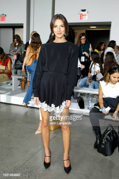 Arielle Charnas attends the Sally LaPointe front Row during New York Fashion Week The Shows at Gallery I at Spring Studios on September 11 2018 in...