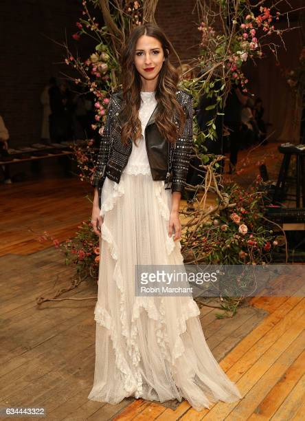 Arielle Charnas attends Ulla Johnson Front Row during New York Fashion Week on February 9 2017 in New York City