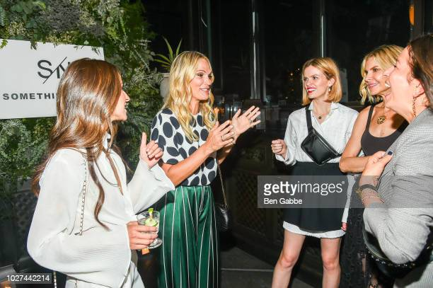 Arielle Charnas Molly Sims Brooklyn Decker Whitney Casey and Rebecca Minkoff attend Nordstrom's SOMETHING NAVY Brand Launch Dinner At The Gramercy...