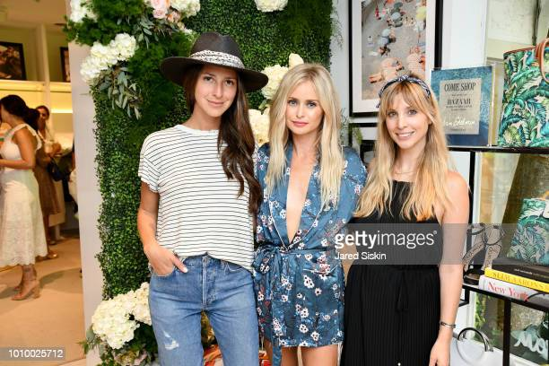 Arielle Charnas Natalie Obradovich and Kerry Pieri attend Harper's BAZAAR X Sam Edelman MidSummer Hamptons Event on August 2 2018 in Southampton New...