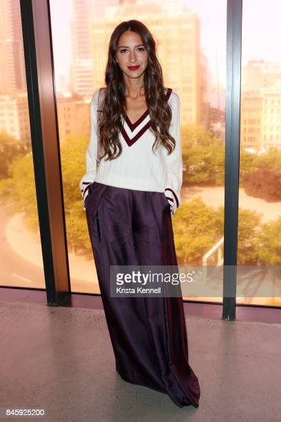 Arielle Charnas poses at the Zimmermann show during New York Fashion Week at Spring Studios on September 11 2017 in New York City