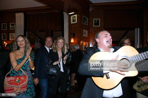 Arielle de Rothschild and her companion Frederic Naquet attend the Reopening of the Hotel Barriere Le Fouquet's Paris decorated by Jacques Garcia at...