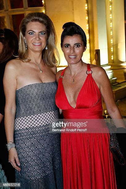 Arielle de Rothschild and Humorist Sandrine Sarroche attend the Grand Bal de Deauville For Care France Association with Dior in Casino Barriere de...
