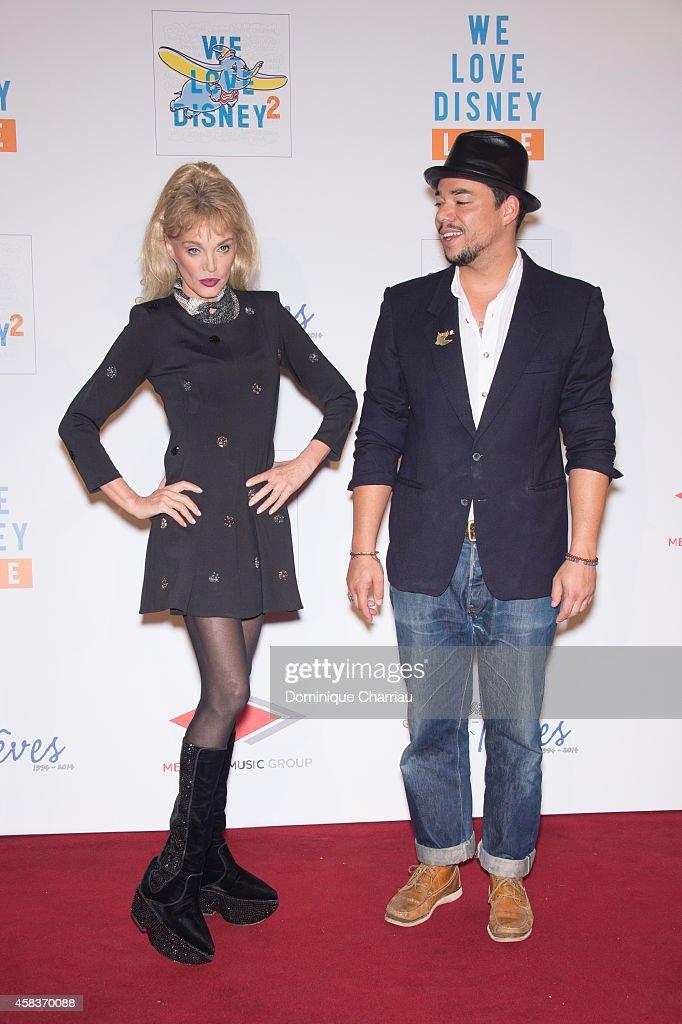 Arielle Dombasle And Ben Lu0027oncle Soul Attend U0027WE Love Disneyu0027 Premiere To
