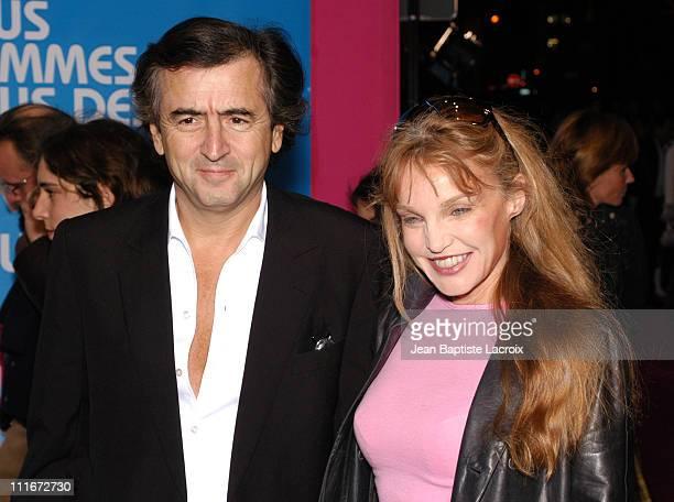 Arielle Dombasle and Bernard Henri Levy during Podium Paris Premiere at Paramount Opera in Paris France