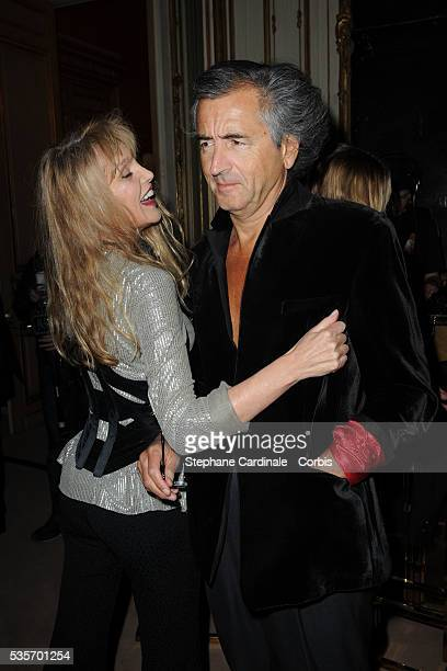 Arielle Dombasle and BernardHenri Levy attend the launch party for the 123 collection in Paris