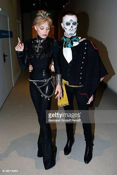 Arielle Dombasle and dancer JeanMich attend Arielle Dombasle performs for the release of the Album 'La Riviere Atlantique' 'Noche de los muertos'...